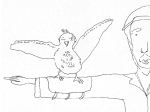 1 minute bird and man